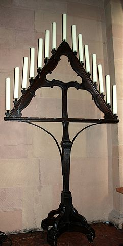 "Tenebrae ""hearse"" (candelabrum) used during Holy Week, Mainz Cathedral"